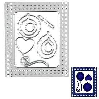 Vovotrade DIY flor de corte de metal muere Stencil Scrapbooking grabado álbum de papel de la tarjeta de Artesanía Inicio hecho a mano Decoración de etiqueta de la pared (j)