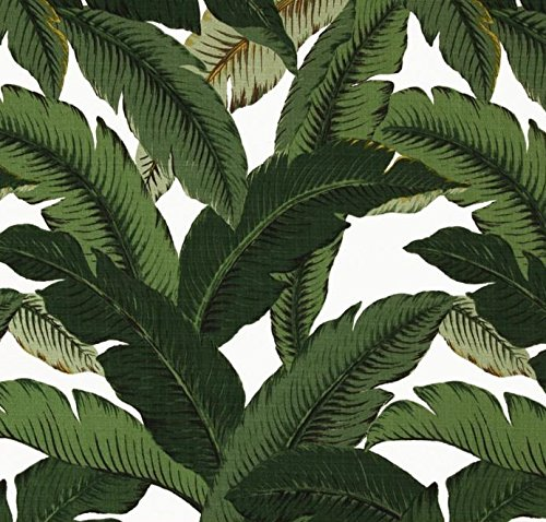 (Indoor / Outdoor Fabric by the Yard - Tommy Bahama Swaying Palms - Aloe - Green Tropical Palm Leaf)