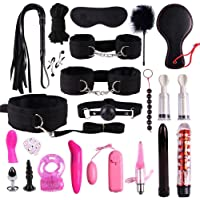 VANNERT Bed Restraints Kit System,New Plush Set Sexy Toy Suit 22 PCS Nylon Leather SM Kit Special Bundled Binding Set for Sexy Fun