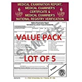 LOT OF 5 JJ KELLER 15-MP (6147) Medical Exam Report, Certificate, & National Registry Verification