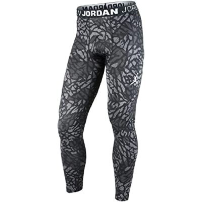Air Jordan Mens Dominate Compression Tights Pants Black