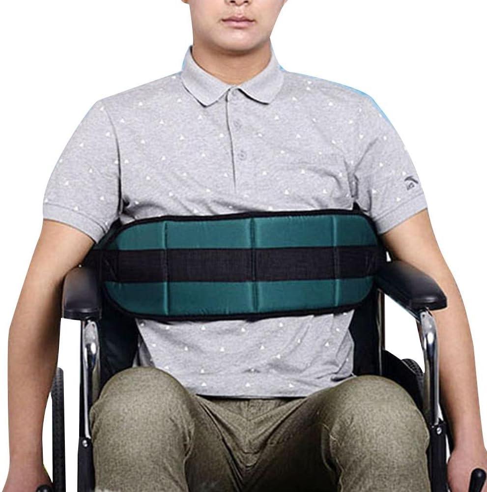 WANGXN Correa de cinturón de la Silla de Ruedas/cinturón de Seguridad con sillón de Velcro Correa de sujeción de arnés de Cuidado de la Salud Avanzada para Ancianos