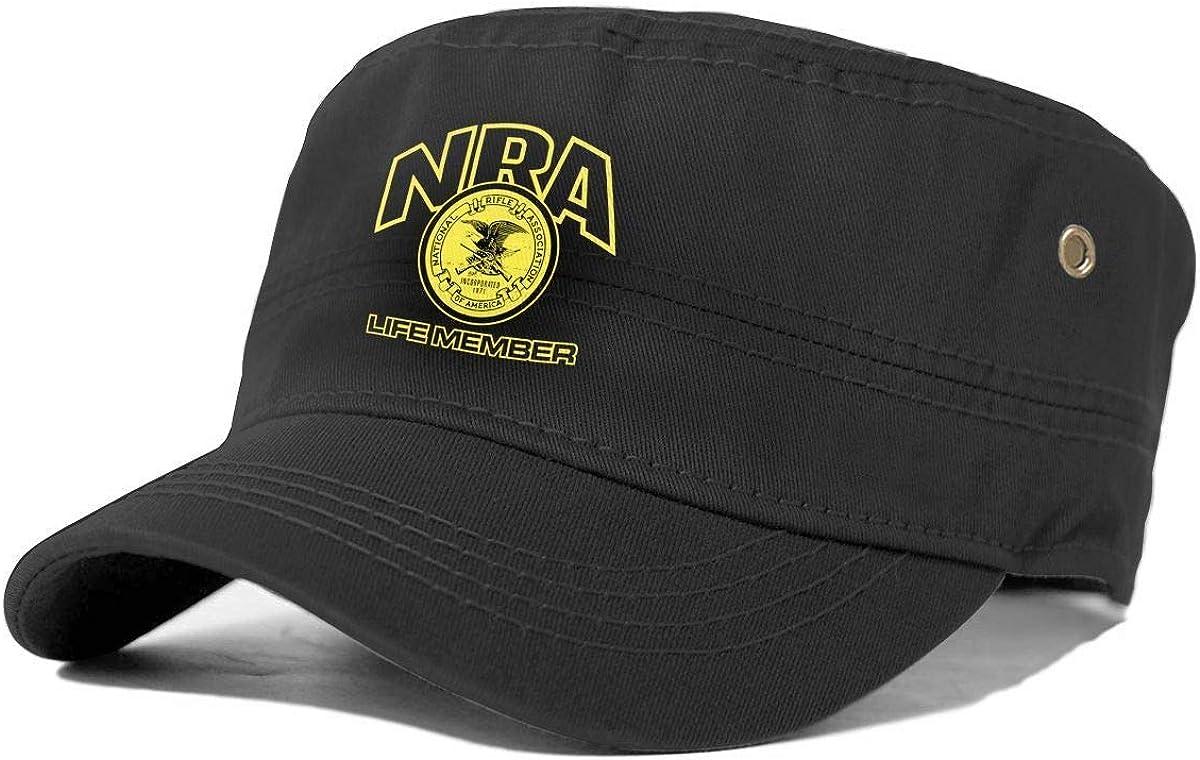 Topsail Works NRA Life Member Mode Adulte Cap Unisexe Baseball Militaire Arm/ée Cadet Casquette Flat Top Sun Chapeaux