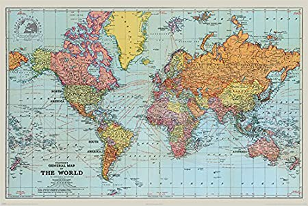 Pyramid international stanfords general map of the world colour pyramid international stanfords general map of the world colour maxi poster 61 x gumiabroncs Images