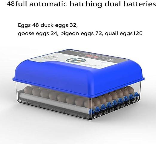 Ventilador totalmente automático incubadora de huevos automático de doble fuente de alimentación con el huevo de