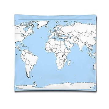 Amazon.com: BINGZHAO Blank Political World Map High Resolution New ...