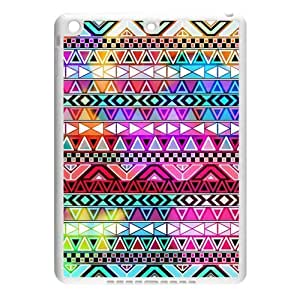 Aztec Colorful Pattern Bohemian Style Personality Design Custom Luxury Cover Case with Best Plastic forIpad air2 (IPad 6)