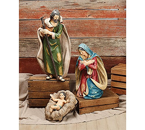 Extra Large Christmas Nativity Holy Family Set 3 Piece Figures by B and B