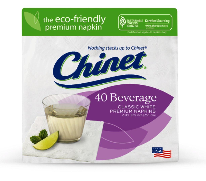 Chinet Classic White Beverage Napkins, 480 ct