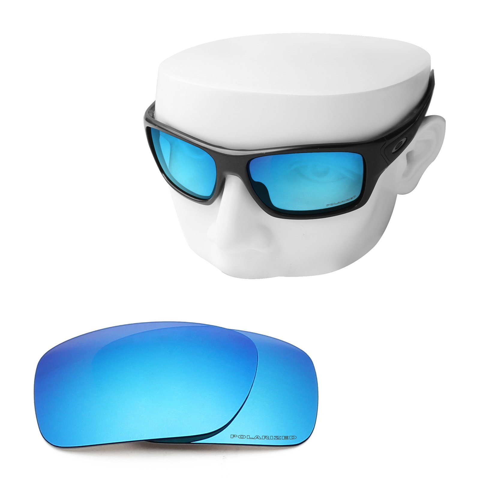 OOWLIT Replacement Sunglass Lenses for Oakley Turbine Ice Combine8 Polarized