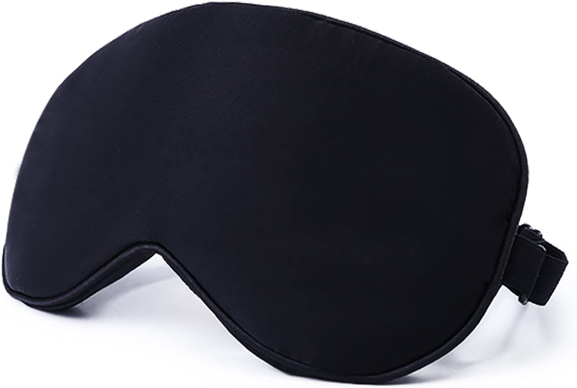 Natural Silk Sleep Mask & Blindfold - Super Smooth Eye Bag for Men & Women & Kids - Your Best Travel Sleeping Helper - Include Free Ear Plugs
