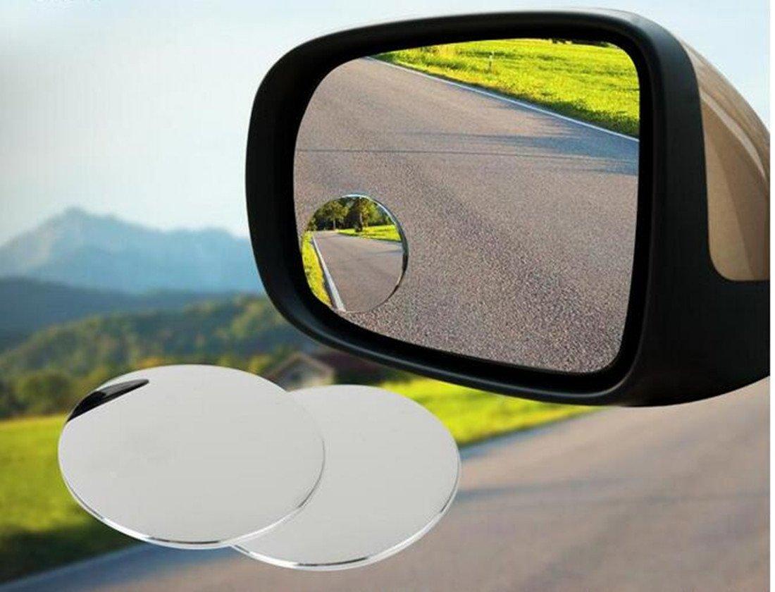 Qingsun 4pcs Blind Spot miroir Universel de Voiture Arri/ère View en Verre avec Sauvegarde Auto-adh/ésif 360 Degr/és de Rotation,55mm