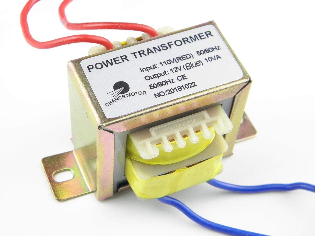 CHANCS Power Transformer Input 110V Output AC 12V AC/AC Transformer for  Sychronous Motor