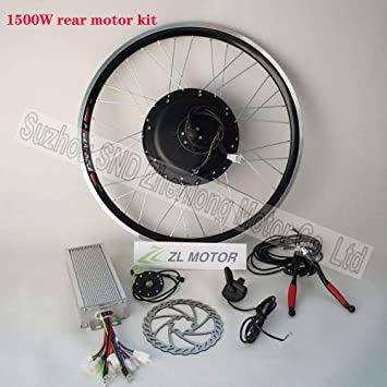 GZFTM - Motor eléctrico para Bicicleta (1500 W, para radios Traseros, con Controlador Sinus), 48 V, 1500 W, 20 Pulgadas.: Amazon.es: Deportes y aire libre
