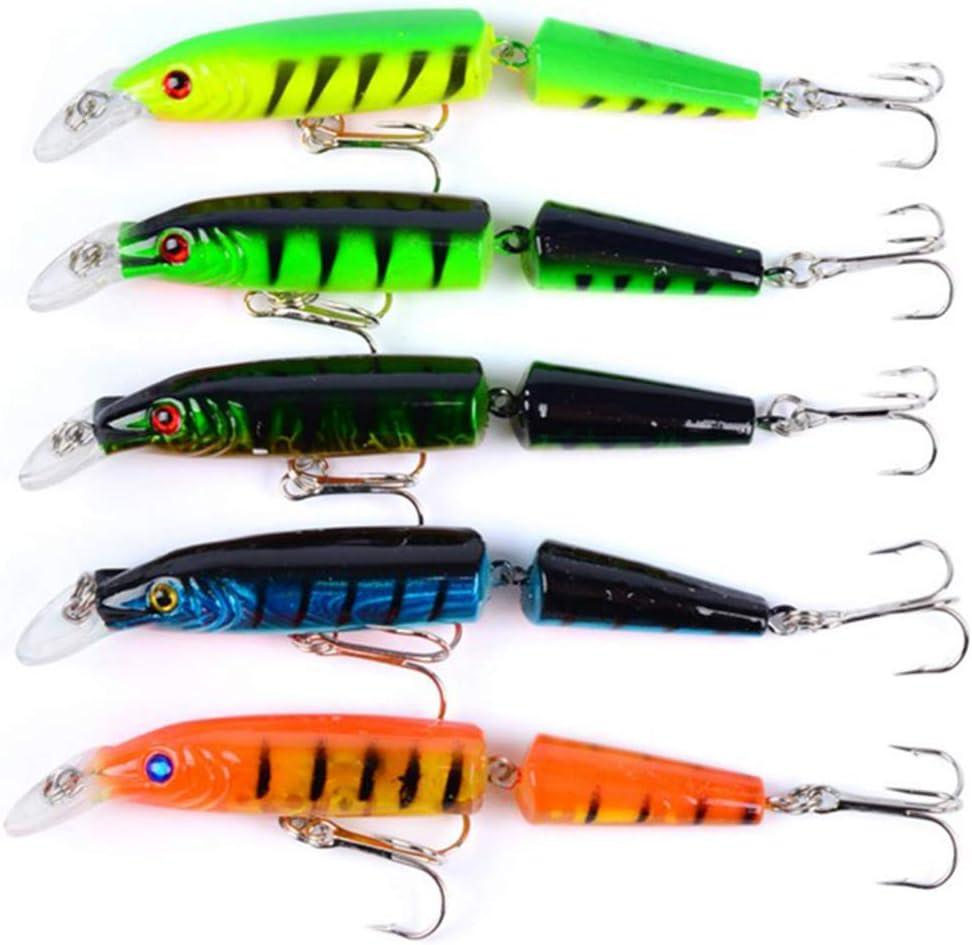 5 colores de pesca señuelos articulados plástico multi-Bait ...