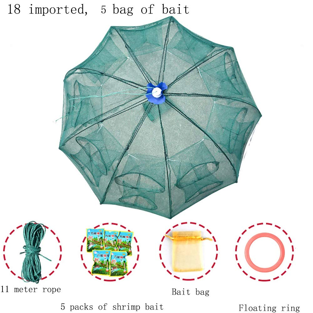 18 imports 5 Portable Folding and Reinforced Fishing nets  Fishing Bait Traps, 23 Styles to Choose from.