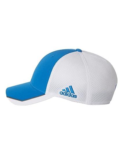 Amazon.com  adidas-Tour Mesh Cap-A620-SM MD-Bahia Blue- White ... ce360c944297