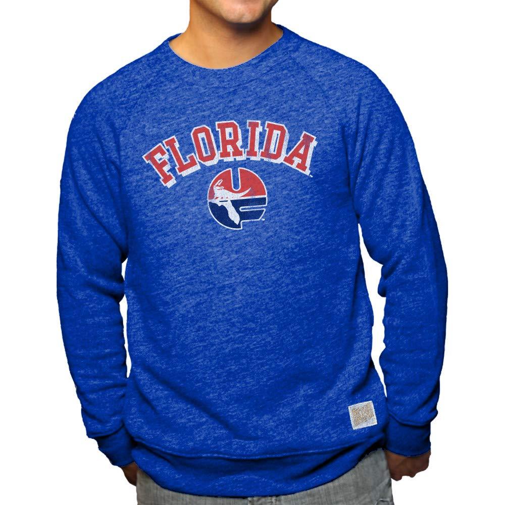 Elite Fan Shop NCAA メンズ トライブレンド クルーネック スウェットシャツ チームカラー レトロ B07HYBJ3FS Florida Gators Blue Large