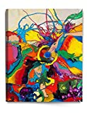 DecorArts - Abstract Painting, Abstract Art Reproduction. Giclee Print On Acid-free Cotton Canvas, stretched canvas gallery wrapped, Easy to hang. 24x30