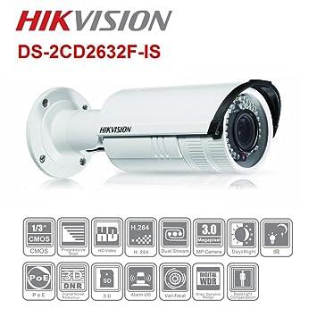 Hikvision 3 mp Verifocal IR Bullet Red IP Cámara 2,8 - 12 mm ...