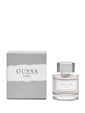 Amazoncom Guess Fragrance 1981 Eau De Toilette For Men 34 Fluid