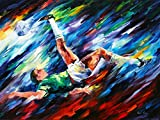 Bicycle Kick is a Limited Edition print from the Edition of 400. The artwork is a hand-embellished, signed and numbered Giclee on Unstretched Canvas by Leonid Afremov. Embellishment on each of these pieces will be slightly different, but the image it...