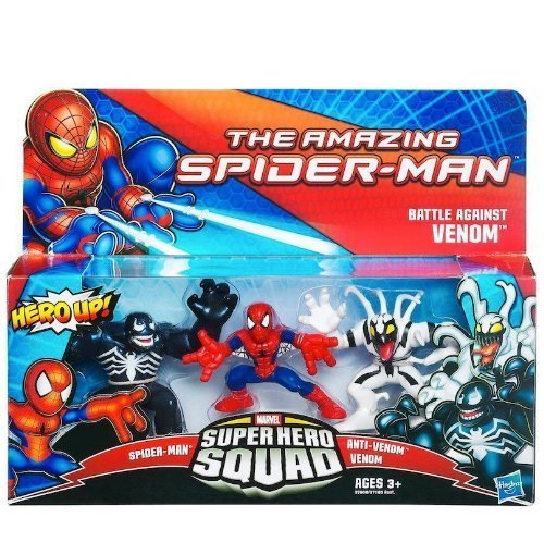 Marvel Super Hero Squad The Amazing Spider-Man Battle Against Venom 3-Pack ()