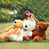 VERCART 4.5 Foot 55 inch Light Brown Giant Huge Cuddly Stuffed Animals Plush Teddy Bear Toy Doll