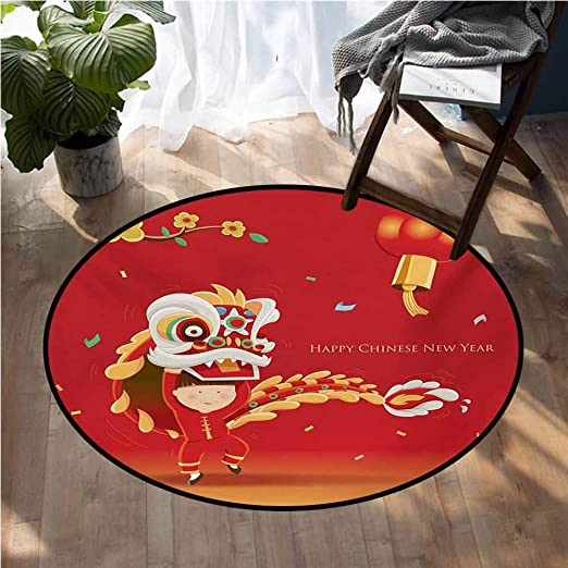 Amazon Com Chinese New Year Overstock Rugs Little Boy Performing