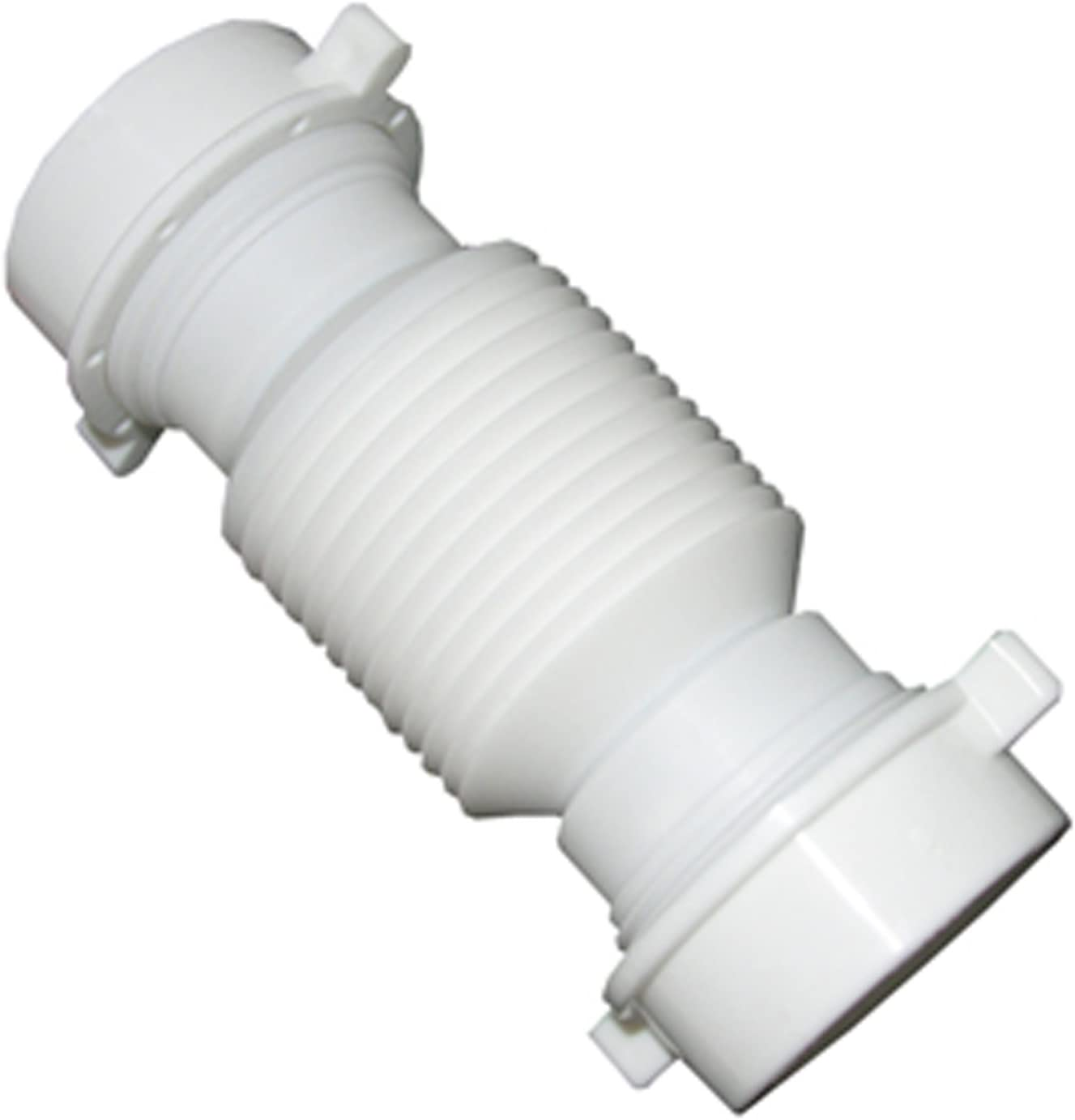 Slip Joint Extension with Nut and Washer Extendable LASCO 03-4319 White Plastic Tubular 1-1//2-Inch Flexible
