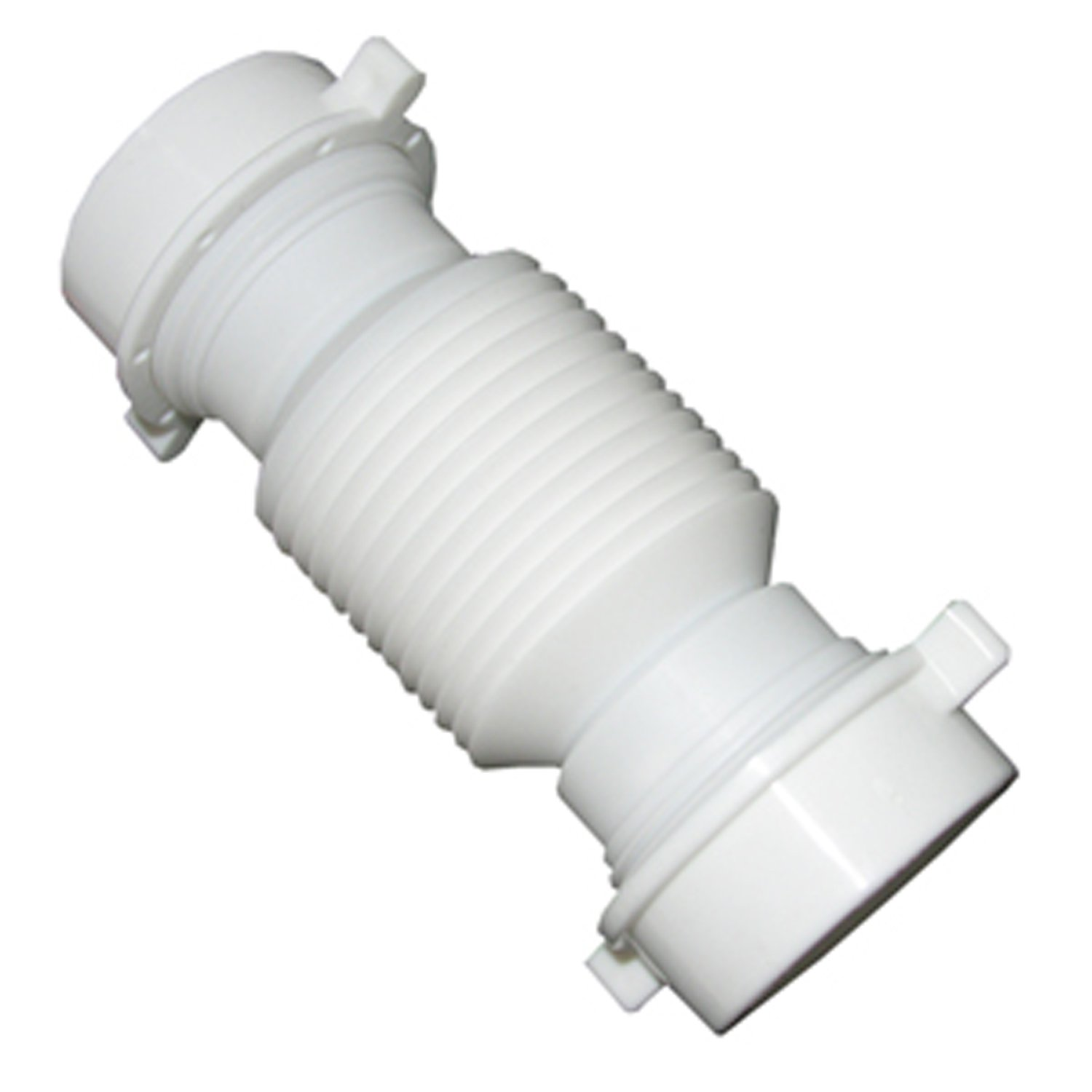 LASCO 03-4355 White Plastic Tubular 1-1/2-Inch Slip Joint Coupling Flexible and Extendable with Nuts and Washers