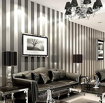 Lxpagtz Simple Moderne Papier Peint Non Tissé Chambre Salon Noir Et