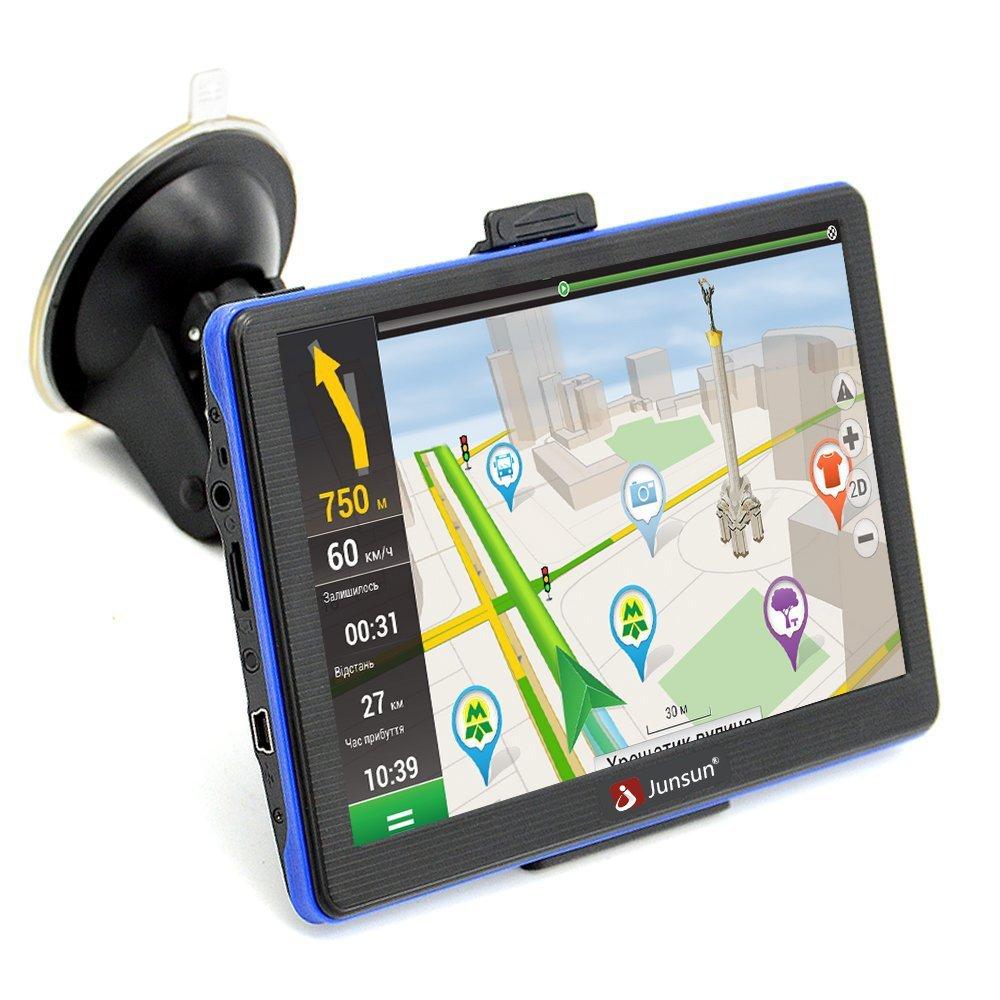 Junsun Car Gps Portable 7 Inch 8gb Capacitive Touchscreen Navigation System Sat Nav With Lifetime Maps