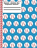 Baseball Red White Blue Composition Notebook - 5x5 Graph Paper: 130 Pages 7.44 x 9.69 Quad Ruled Pages School Teacher Student Game Player Coach Subject Math Diagram