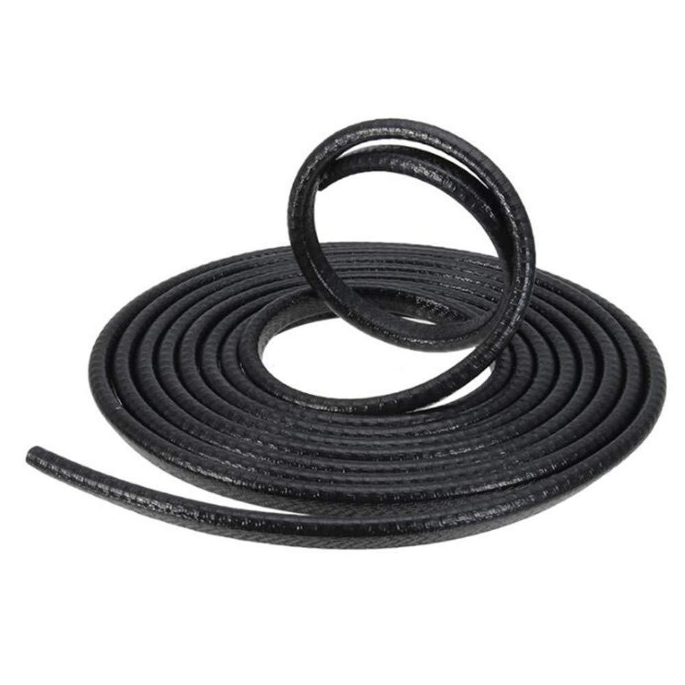 Easy Install Colour Black Protective Rubber Door Strip U Shaped Roll TRIXES 5M Car Guard