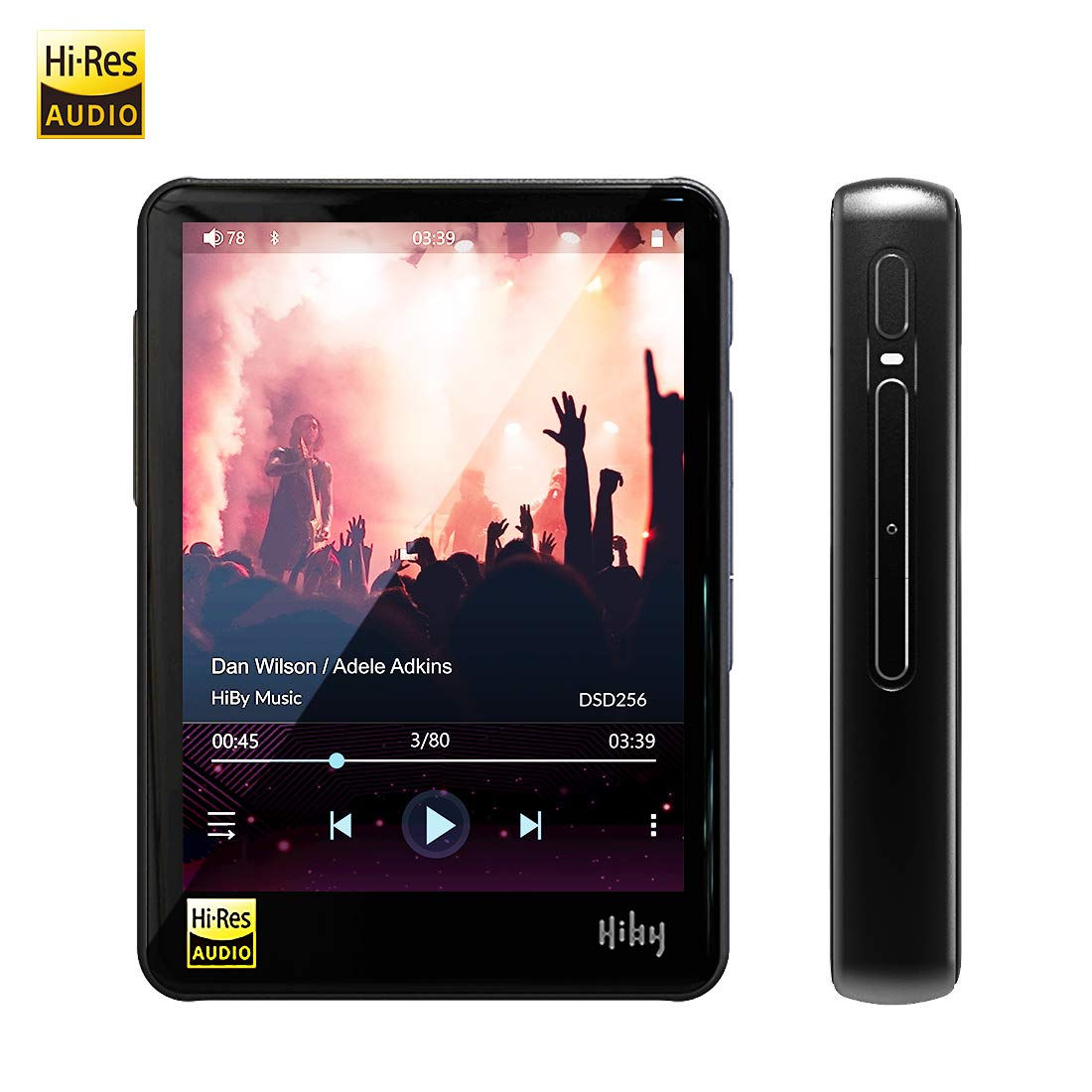 HiBy R3 Hi-Res Music Player, HiFi Lossless MP3 Player with Bluetooth/atpX/FLAC/DSD/LDAC/MQA, High Resolution Digital Audio Player Supporting WiFi with Full Touch Screen