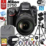 Nikon D750 DSLR 24.3MP HD 1080p FX-Format Digital Camera 64GB Bundle, Includes 64GB...