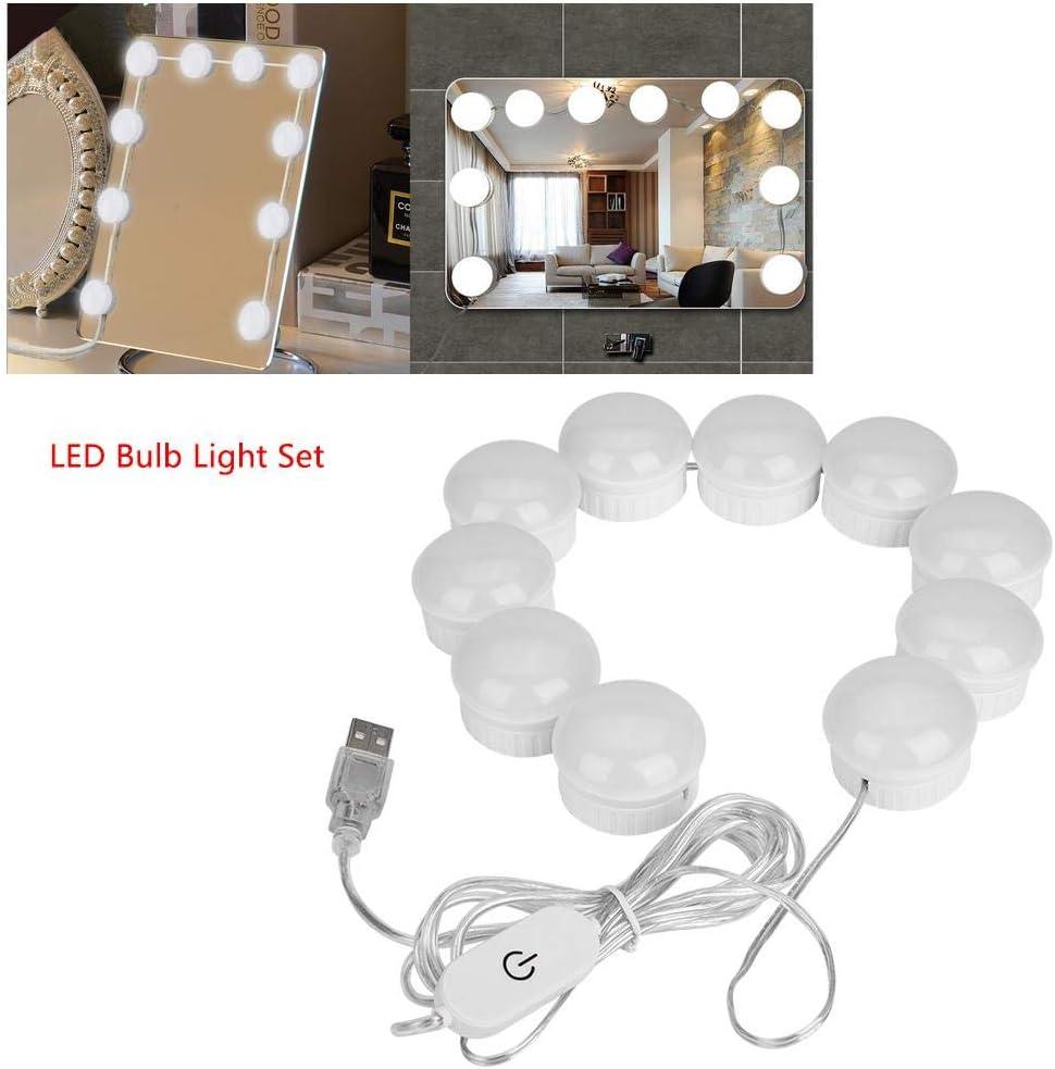 light bulbs lighting fixture for vanity table 10pcs DIY LED LED vanity mirror lights set with smart cushion koulate Makeup mirror bulb light