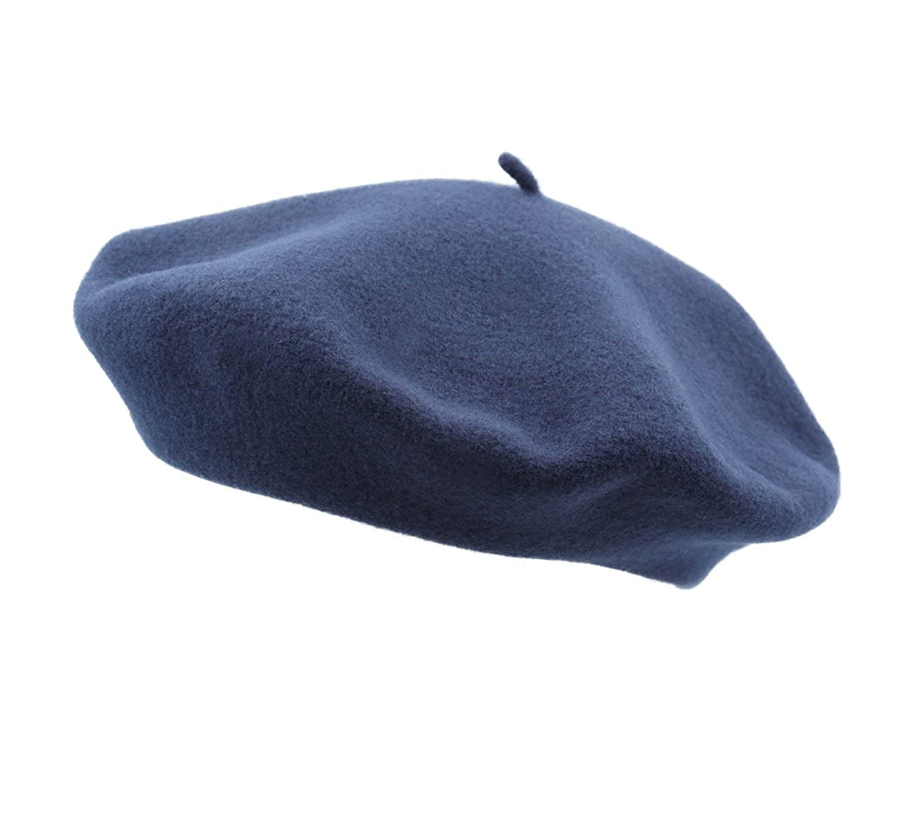 Laulhère Men's Authentique French Beret Basque, Traditional Traditional Blue-nuit