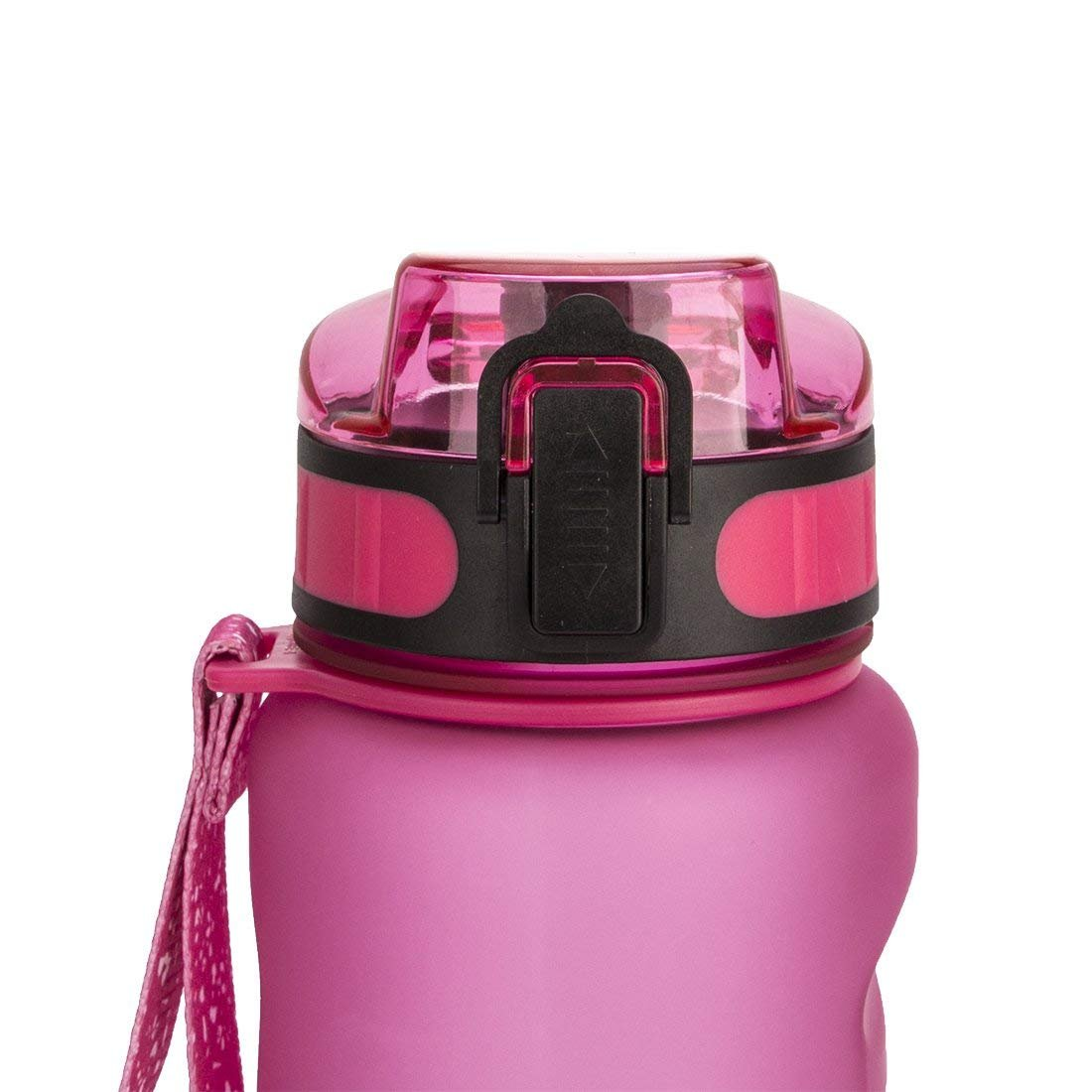 Chiffony Sports Water Bottle-27oz (800ML) Portable BPA-Free Plastic Lightweight Drinking Cup,Flip Top Lid,Eastman Tritan,Leak-Proof(Pink) by Chiffony (Image #6)