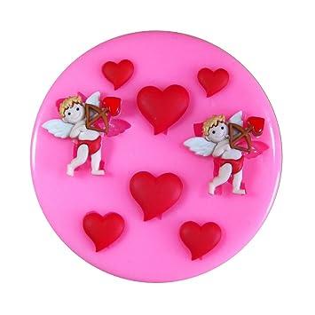 Valentinstag Tages Amor Herzen Silikonform Fur Kuchen Dekorieren