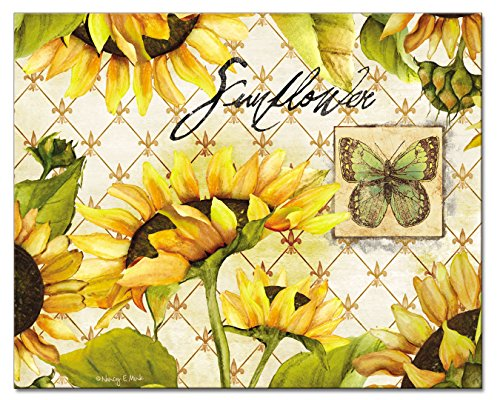 sunflower glass cutting board