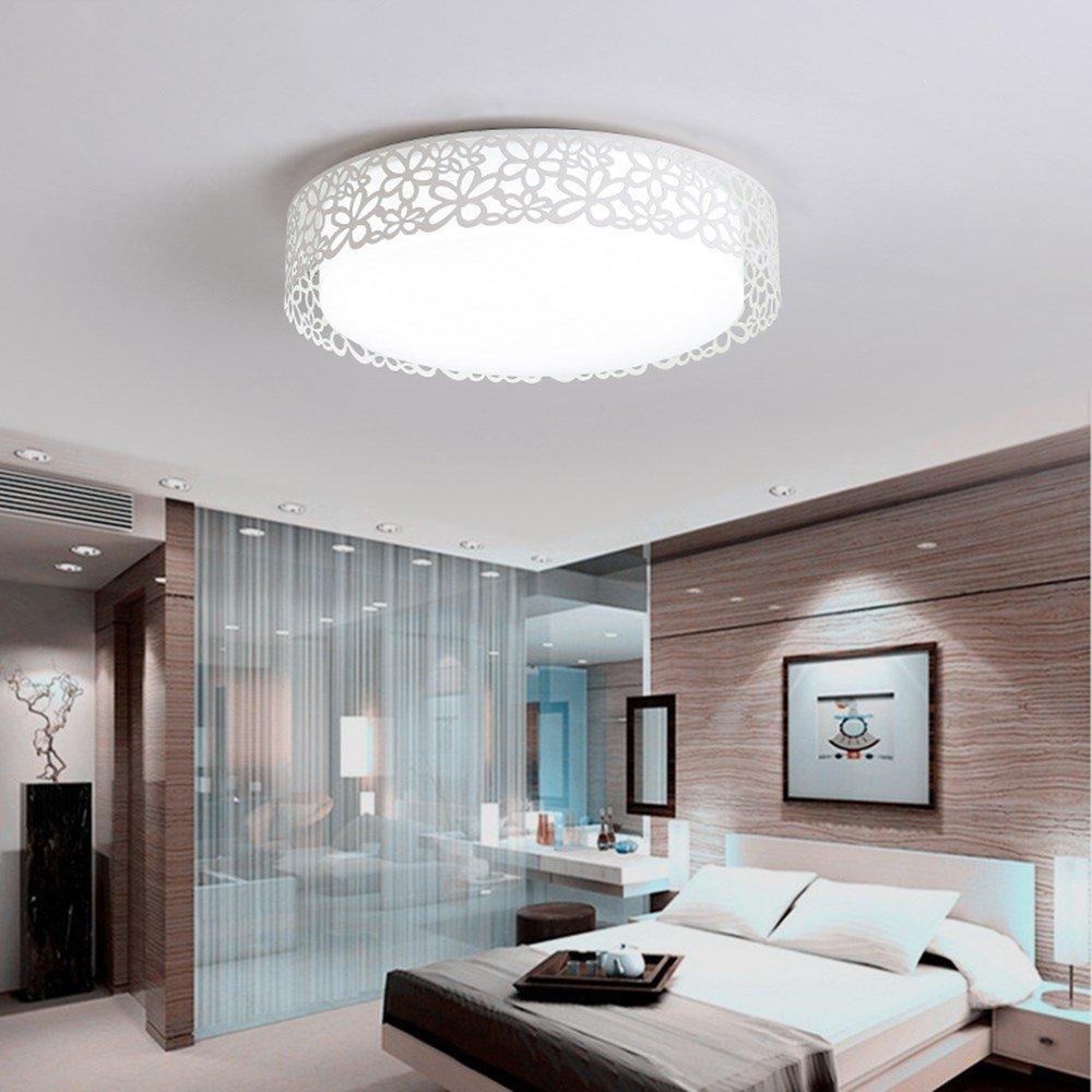 Joeyhome Blaumen net Modell LED Deckenleuchten Wohnzimmer Schlafzimmer Runde Acryl plafon led Lampe Moderne Leuchten wohnkultur, D45CM, kühlen weiß