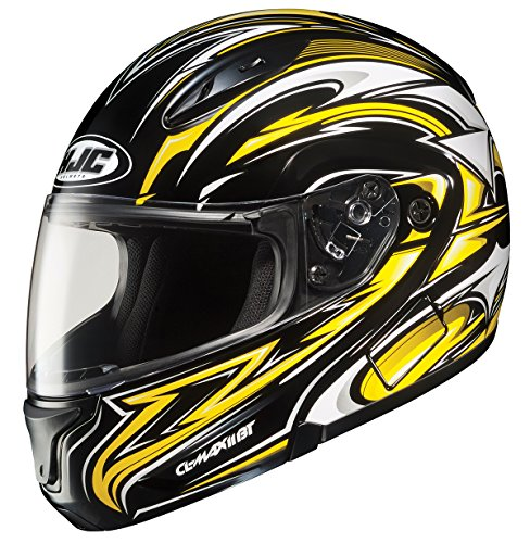 HJC CL-MAXBT II Atomic Bluetooth Modular Motorcycle Helmet (MC-3, XX-Large) (Mc3 Motorcycle Helmet)