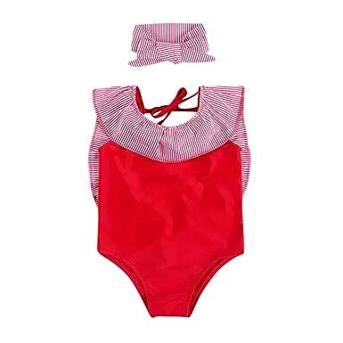 Amazon.com: jchen rayas bañadores para niñas, (TM), Niños ...