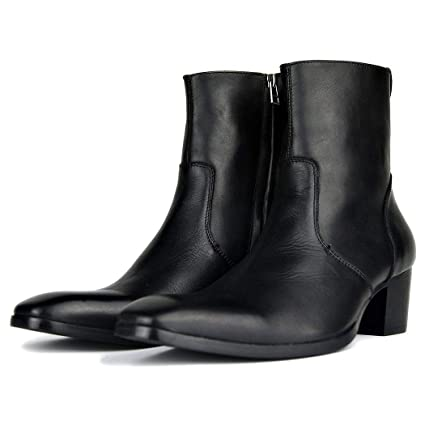 Amazon.com  LYMYY Men\u0027s Shoes Men Boots Middle Tube Leather