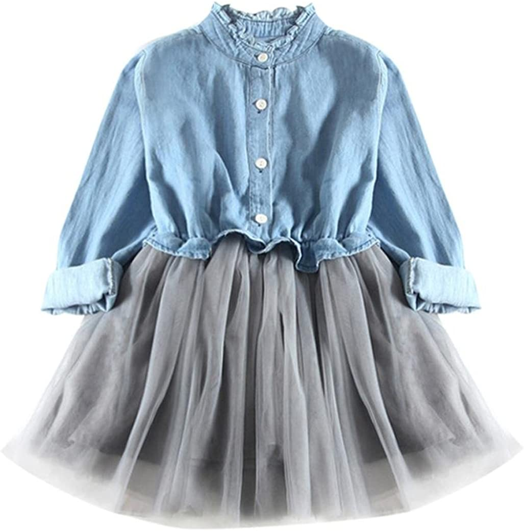 Girls Denim Princess Dress,Todaies Baby Long Sleeve Princess Tutu Dress Cowboy Clothes