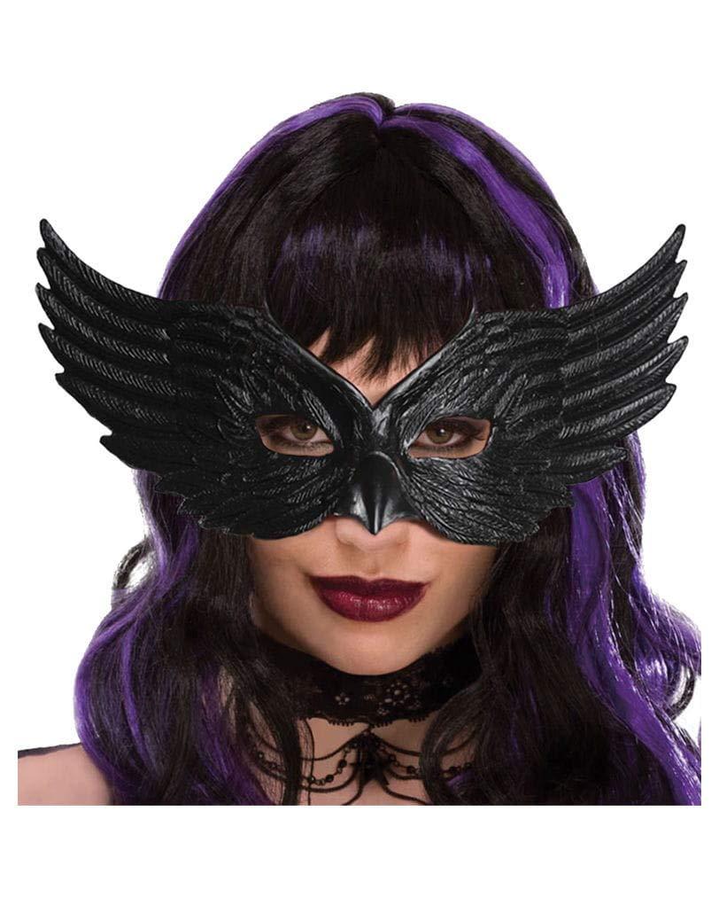 Horror-Shop Máscara negro Cuervo: Amazon.es: Juguetes y juegos