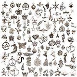 Best KeyZone Bracelets - KeyZone Wholesale 100 Pieces Mixed Charms Pendants DIY Review