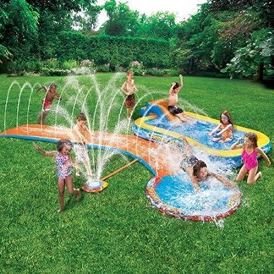 Banzai Aqua Drench 3-in-1 Splash Park: Toys & Games